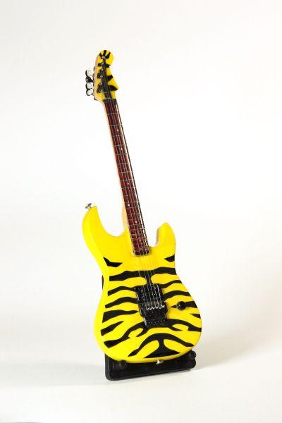 Miniatur E-Gitarre Tigermuster