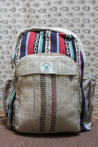 Ethno Rucksack aus Hanf und Baumwolle