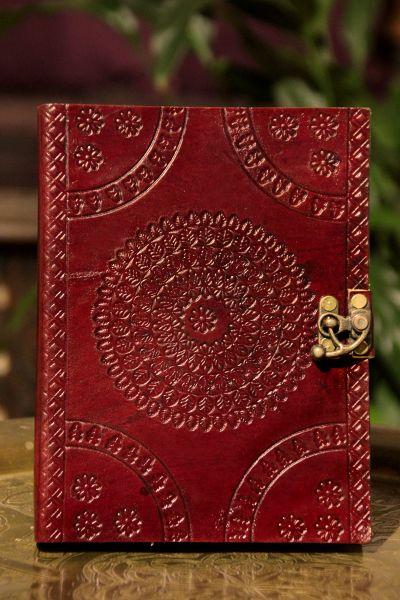 Lederbuch Mandala