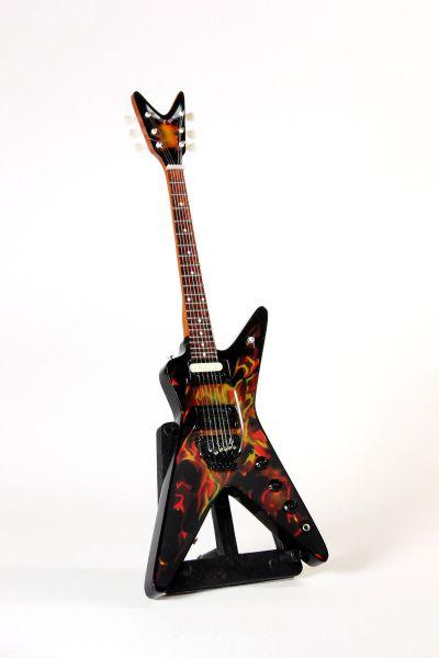 Miniaturgitarre Flammen X