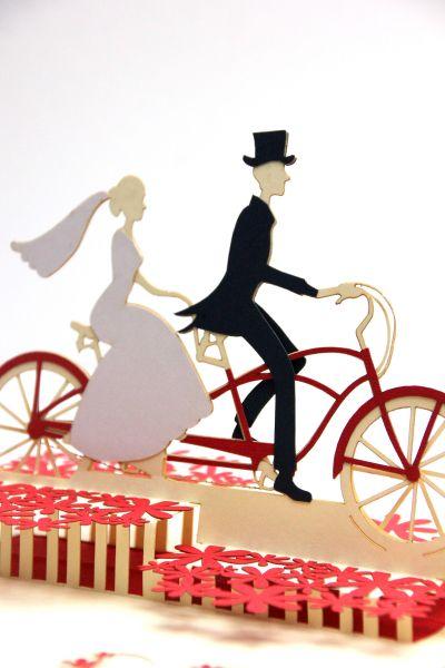Pop up Karte Just married