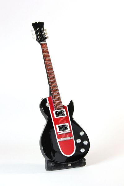 Miniatur Gitarre Rot Schwarz