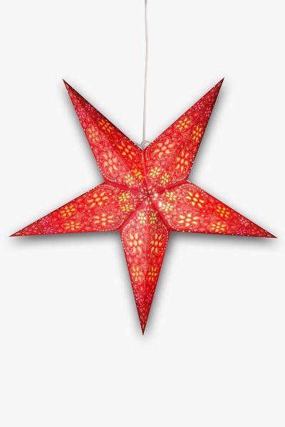 Leuchtstern Rot Orange Weiß