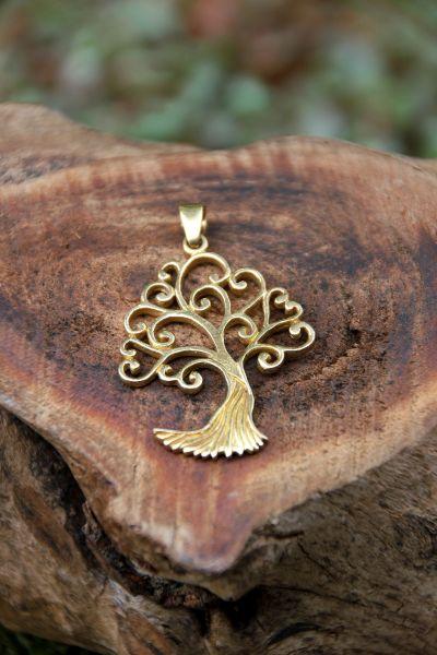 Anhänger Baum des Lebens mit Spiralen