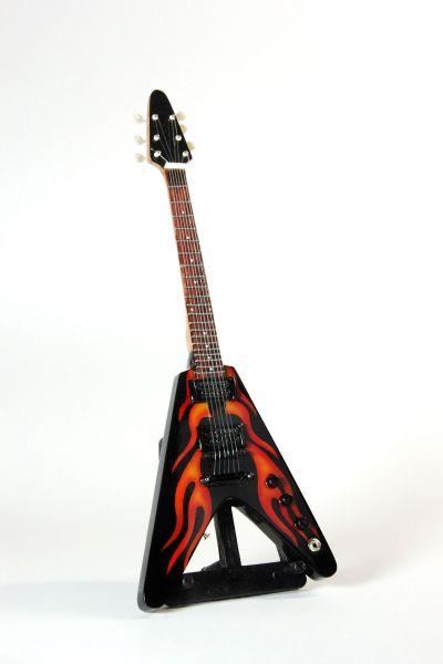 Miniaturgitarre Flames