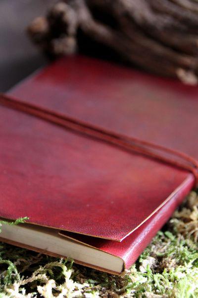 Lederbuch Blanko