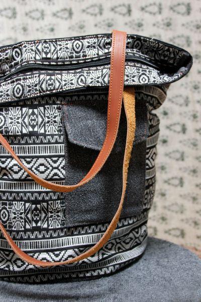 Shopper, Henkeltasche, Handtasche aus Stoff