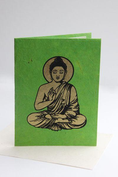 Grußkarte Golden Buddha