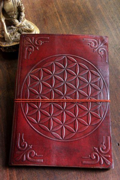 Lederbuch Blume des Lebens