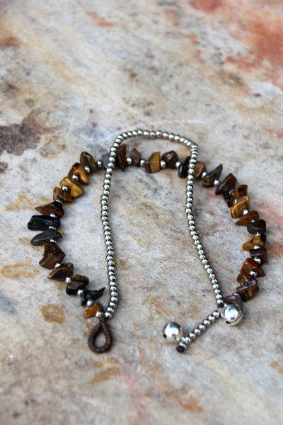 Fußkette Stein & Perlen l