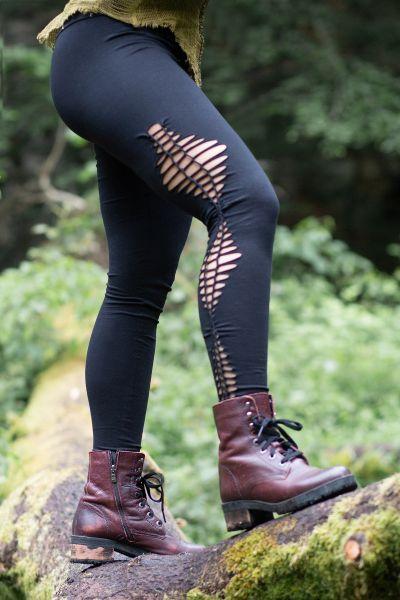Legging im Cutout-Design, Goa, Festival, geflochten
