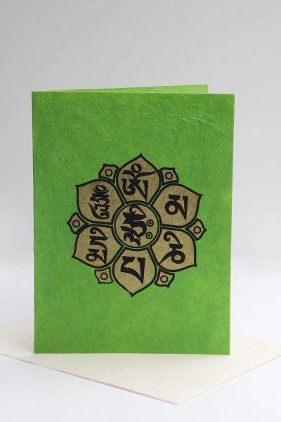 Grußkarte Mandala